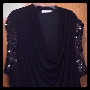 Calvin Klein Sleeveless Black Evening Dress 16w